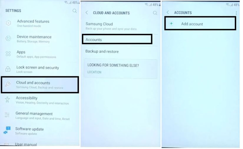 Add Account to Samsung Android 7 FRP Bypass Unlock Google GMAIL Fix Youtube and Location Update