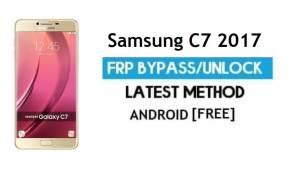 Samsung C7 2017 SM-C710F FRP Bypass – Unlock Google [Android 7.1]