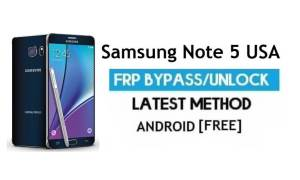 Samsung Note 5 USA SM-N920V/P/R FRP Bypass Unlock Android 7.0