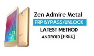 Zen Admire Metal FRP Unlock Google Account Bypass Android 6.0 No PC