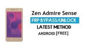 Zen Admire Sense FRP Unlock Google Account Bypass Android 6.0 free