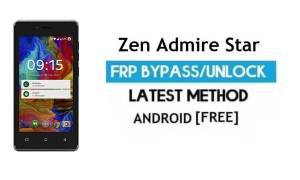 Zen Admire Star FRP Unlock Google Account Bypass Android 6.0 No PC