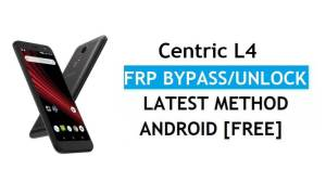 Centric L4 FRP Bypass Unlock Google Gmail Lock Android 8.0 Without PC