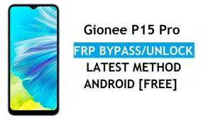 Gionee P15 Pro Android 11 FRP Bypass Unlock Gmail Lock Without PC