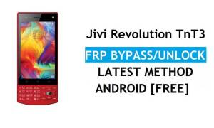 Jivi Revolution TnT3 FRP Bypass Unlock Gmail lock Android 7 Without PC