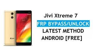 Jivi Xtreme 7 FRP Bypass – Unlock Gmail Lock Android 8.1 Without PC