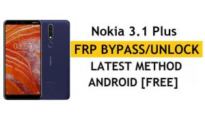 Reset FRP Nokia 3.1 Plus - Bypass Google Android 10 Without PC/APK