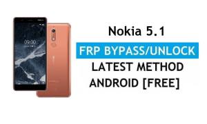 Reset FRP Nokia 5.1 Bypass Google lock Android 10 Without PC/APK free