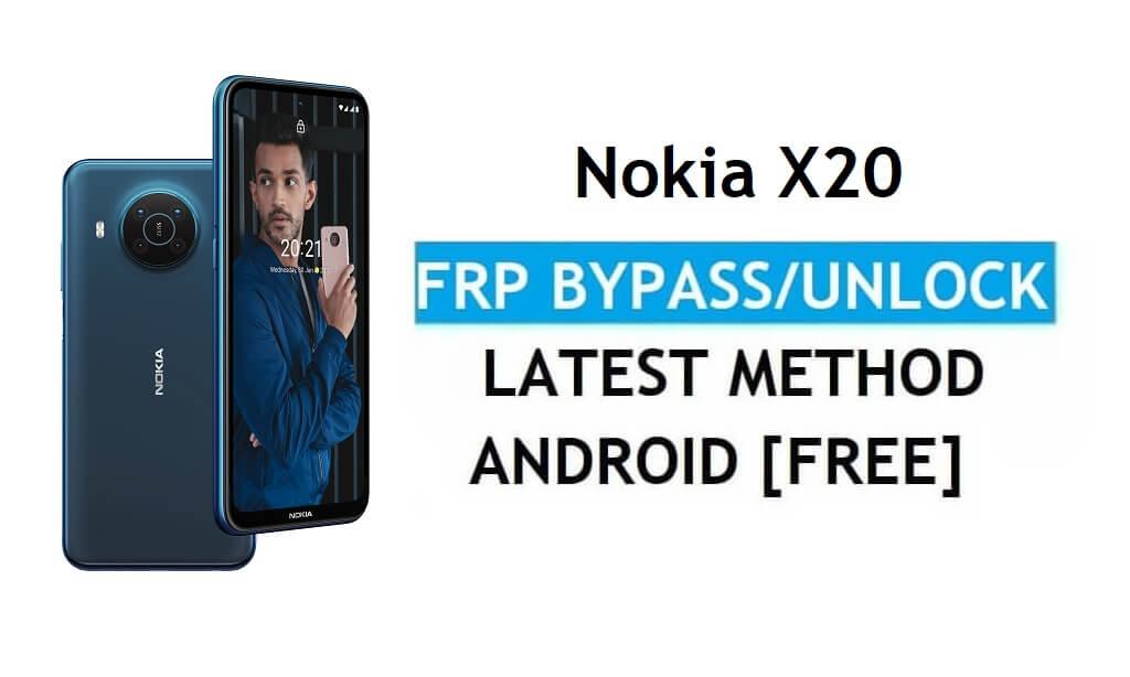 Nokia X20 Android 11 FRP Bypass unlock Google Gmail Lock Latest No pc