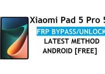 Xiaomi Pad 5 Pro 5G MIUI 12.5 FRP Unlock/Google Account Bypass – Latest Method Without PC/APK