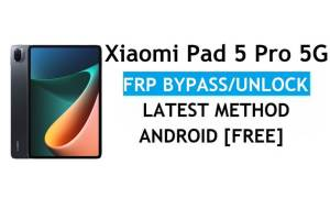 Xiaomi Pad 5 Pro 5G MIUI 12.5 FRP Bypass/Google Account Unlock Free