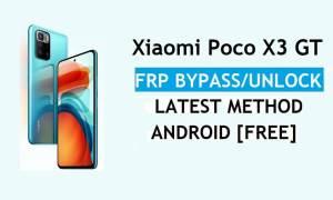 Xiaomi Poco X3 GT MIUI 12.5 FRP Bypass/Google Account Unlock latest