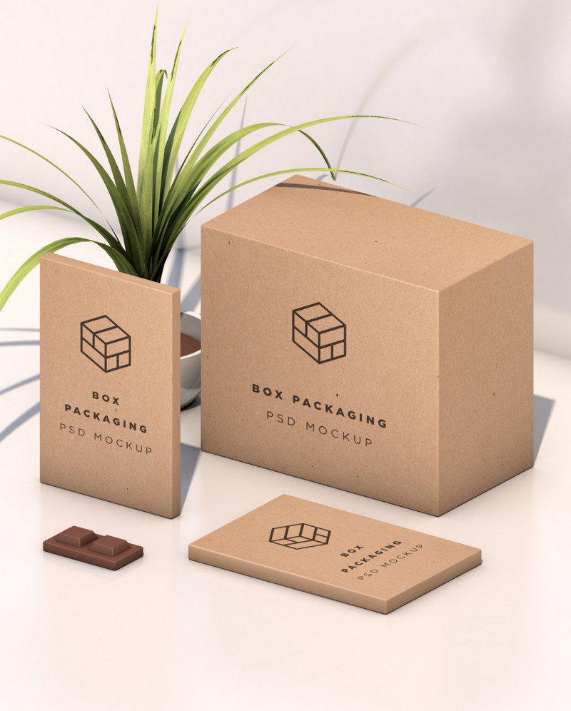 Download Isometric Box Mockup (PSD) | Bypeople