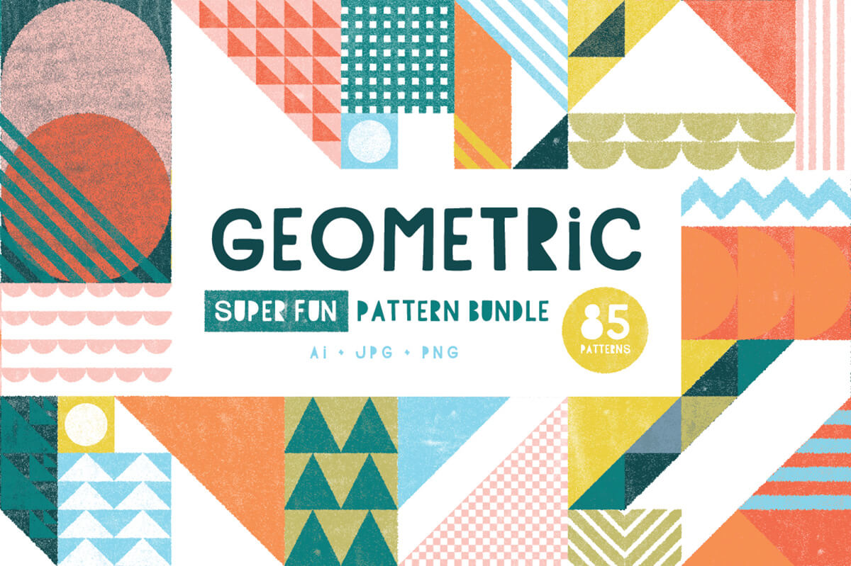 240 Geometric Vector Patterns Amp Shapes Bundle