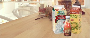 BD Carousel EggNog - nordic kitchen in an apartment. 3D rendering. thanksgiving concept.