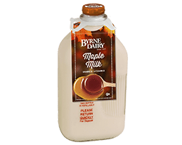 Maple Milk in Glass Bottles from Byrne Dairy