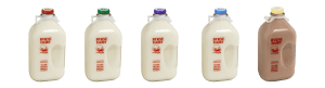 Milk in Glass Bottles Available Flavors from Byrne Dairy