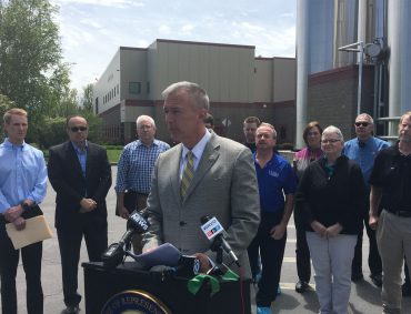 Outside Byrne Dairy, Katko slams trade policies hurting CNY businesses