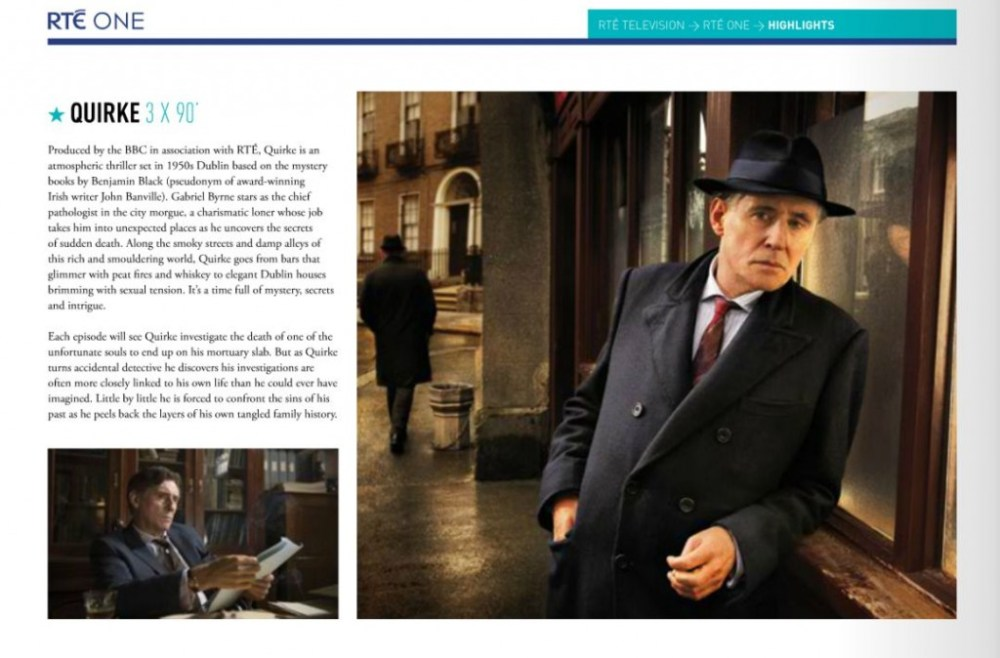 Gabriel Byrne and QUIRKE lead the Fall RTÉ Schedule (2/2)
