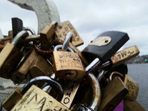 The Go Dublin Go!! lock at The Lock Bridge