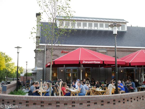 Poesiat en Kater terras Amsterdam oost