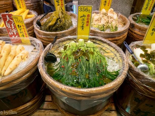 Nishiki Market food Kyoto Kioto kimchi