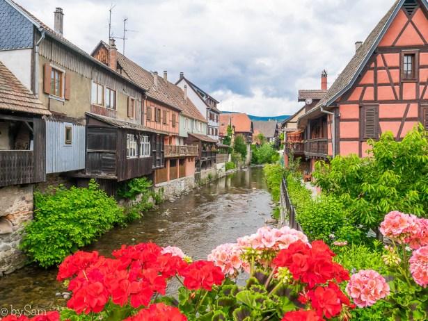 Kaysersberg dorp village Alsace Frankrijk