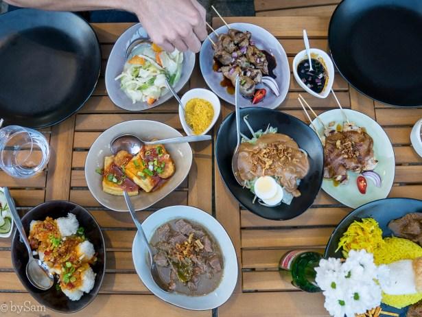 Indonesische rijsttafel Intisari Amsterdam west restaurant