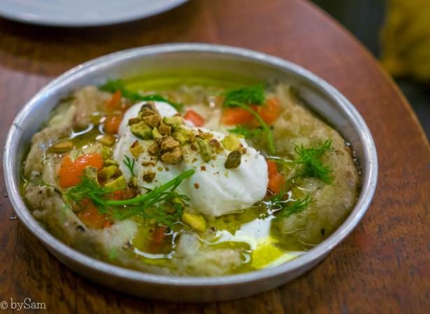 Restaurant BARDAK Amsterdam Israelisch uit eten aubergine