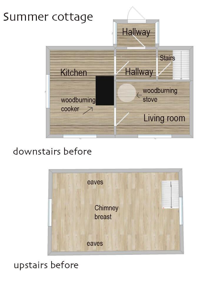 scandi summer house floorplan