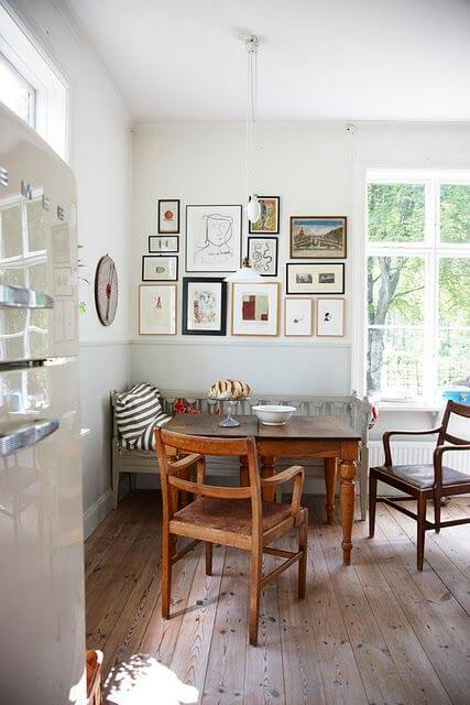 dining nook in a cottage