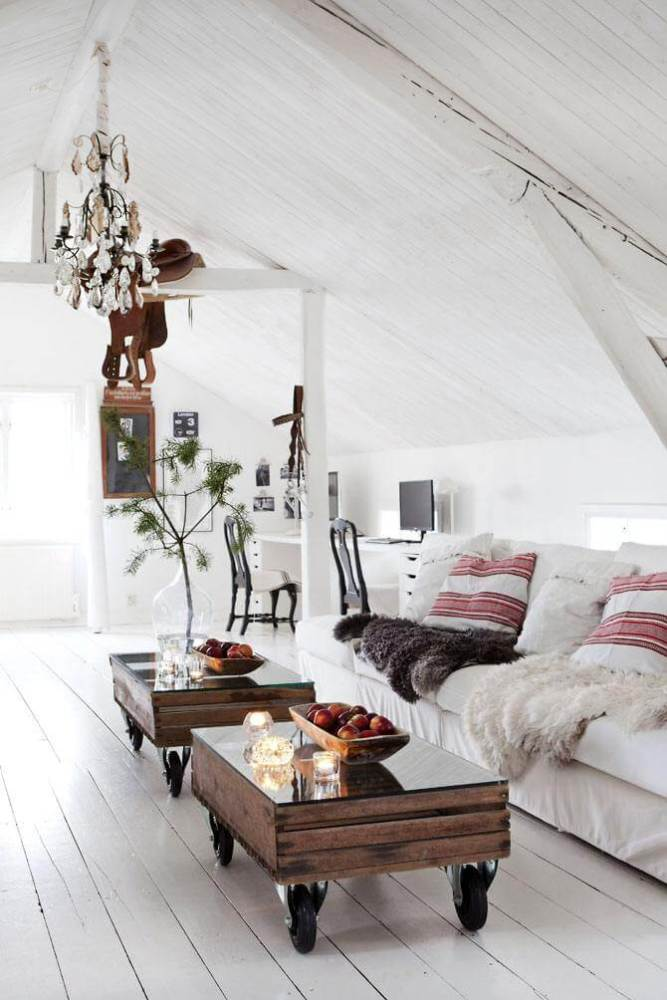 Christmas decor in a white interior can look warm and inviting