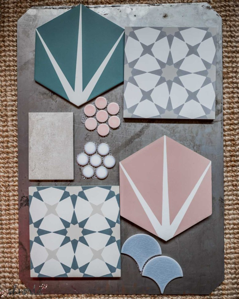 selection of tiles for bathrooms