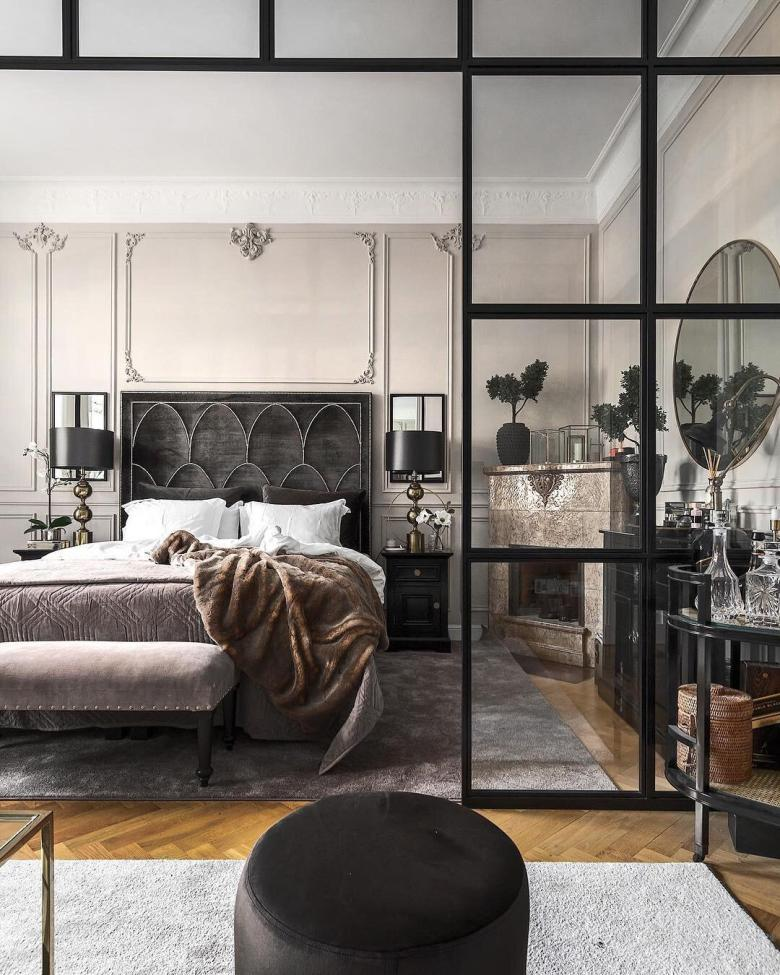 Bedroom with Crittal style internal doors