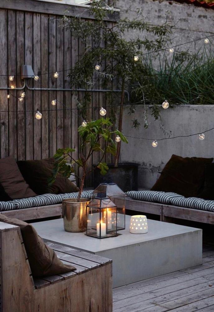 cosy patio seating corner after reno