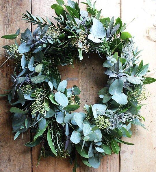 diy foliage wreath