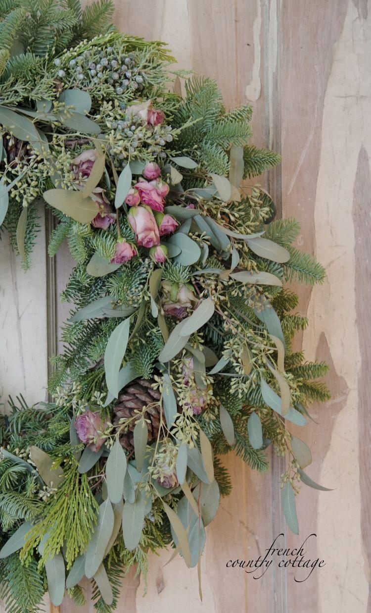 wreath with roses