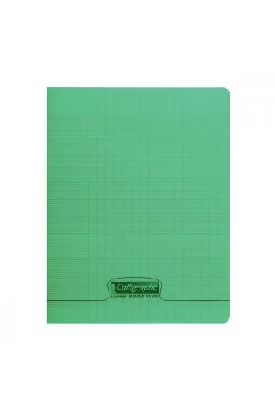 cahier polypro vert calligraphe 24x32 140p grands carreaux seyes 90g