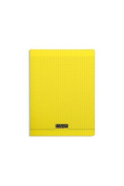 cahier polypro bleu 24x32 192p grands carreaux seyes 90g