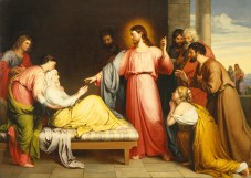Christ Healing the Mother of Simon Peter's Wife, by John Bridges