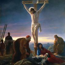 Christ at the Cross, by Carl Block