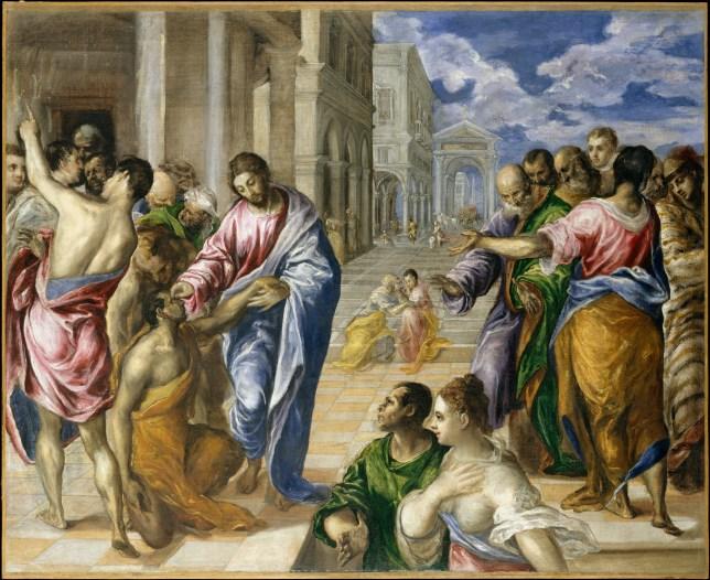 Christ Healing the Blind, El Greco
