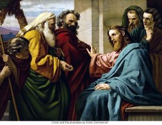 Ernst Zimmerman - Christ and the pharisees