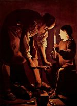 Georges de La Tour. St. Joseph, the Carpenter