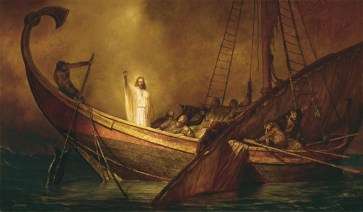 Jesus Calms the Storm, artist unknown