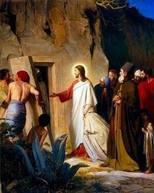 Raising of Lazarus, by Carl Bloch