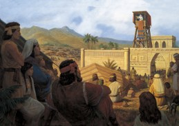 King Benjamin Addresses His People (King Benjamin Preaches to the Nephites), by Gary L. Kapp