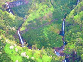 Falls as seen from a helicopter