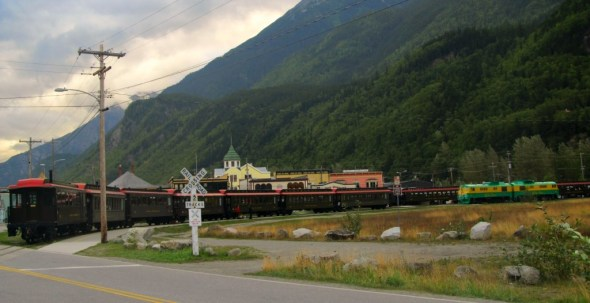 We took a train ride through the rugged terrain of Skagway's interior.
