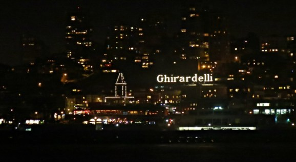 Ghirardelli Square as seen from the water